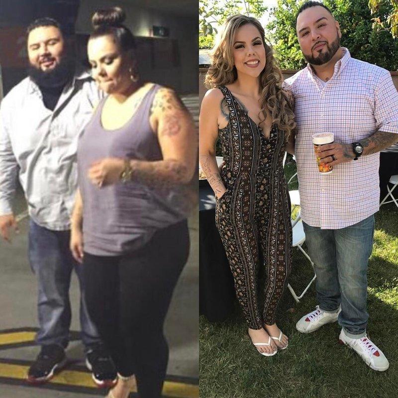 6. Некоторые парочки решают стать лучше вместе  диета, до и после, до и послу похудения, трансформация, фото