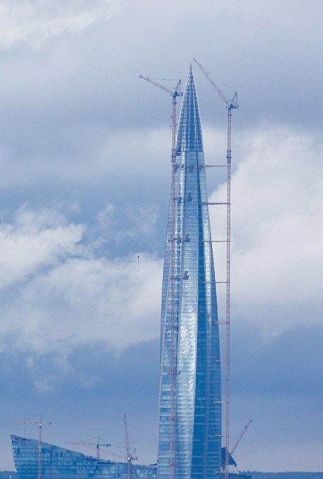 Апрель 2017 года  ЛахтаЦентр, газпром, небоскреб, россия, санкт-петербург, строитель, фото
