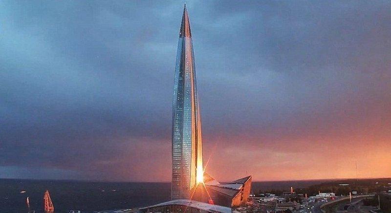 Окончание строительства планируется на конец августа 2018 года  ЛахтаЦентр, газпром, небоскреб, россия, санкт-петербург, строитель, фото