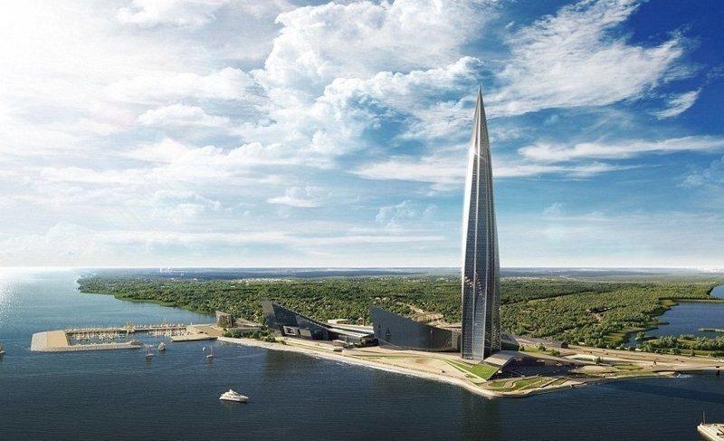 """""""Газпром"""" планирует перебраться в новую штаб-квартиру к концу 2019 года ЛахтаЦентр, газпром, небоскреб, россия, санкт-петербург, строитель, фото"""