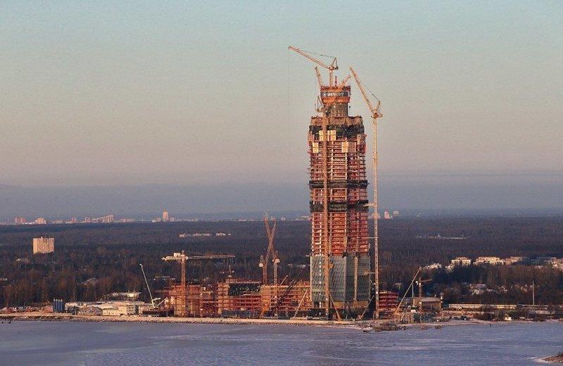 Так выглядело здание в ноябре 2016 года  ЛахтаЦентр, газпром, небоскреб, россия, санкт-петербург, строитель, фото