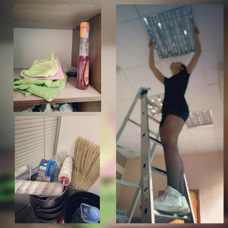 Дошло даже до того, что девушки делают ремонт квартир и офисов baby, девки, девушки, женщины, мужчины, независимые, прикол, юмор