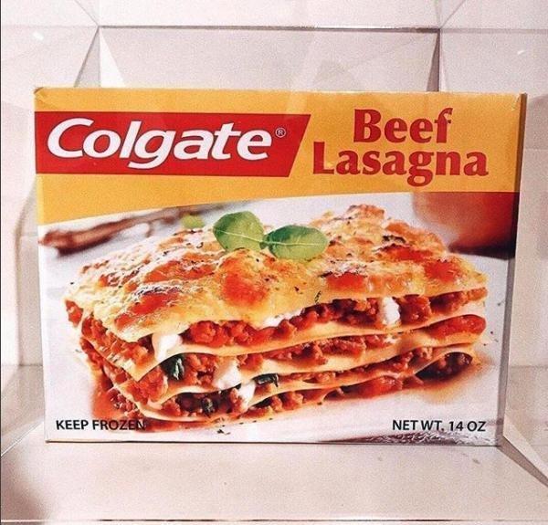 Лазанья от Colgatе гении креатива, еда, креатив, новый продукт, провал, фиаско