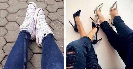6. Вечное противостояние плоской подошвы и каблуков. два типа, девушки, смелость, страх, типичная девушка, фото