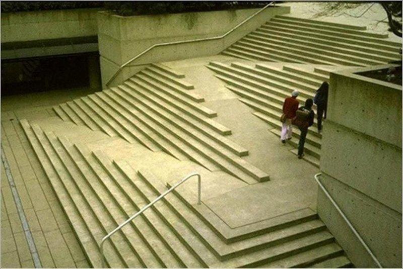 10. Лестница, совмещённая с пандусами восхищение, гениально, дизайнер, идея, креатив, проект, фантазия