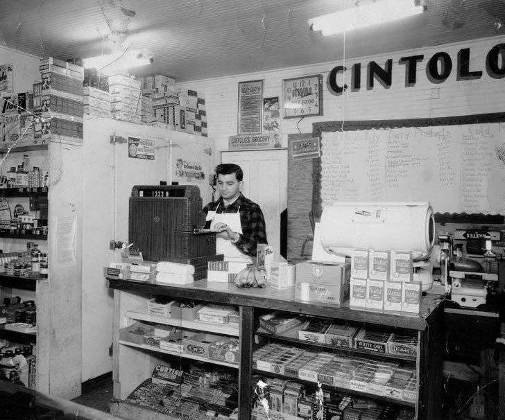 США, 1950-е в мире, время, люди, магазин, ностальгия, прошлое