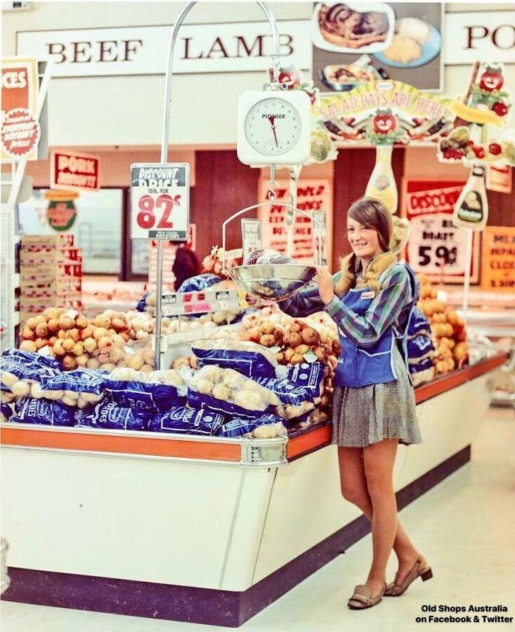 Австралия, 1970-е  в мире, время, люди, магазин, ностальгия, прошлое