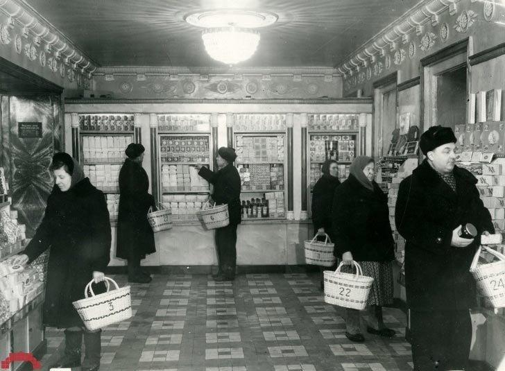 Ленинград, 1958 в мире, время, люди, магазин, ностальгия, прошлое
