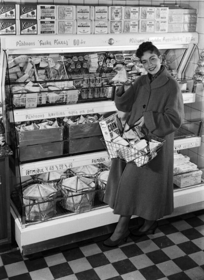 Швеция, 1950-е в мире, время, люди, магазин, ностальгия, прошлое