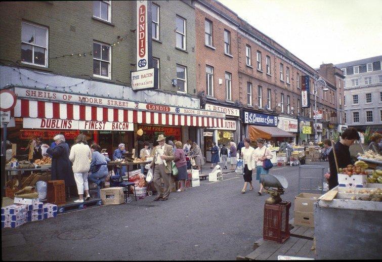 Ирландия, 1985  в мире, время, люди, магазин, ностальгия, прошлое