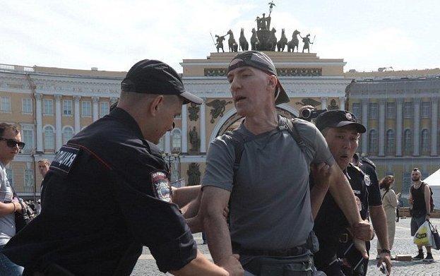 30 человек арестовано во время гей-акции в Санкт-Петербурге ynews, аресты, гей парад, демонстрация, лгбт, новости, полиция, санкт-петербург