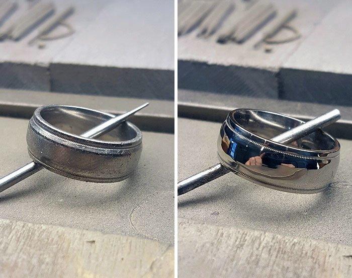 Платиновое кольцо после первой чистки за 20 лет все сверкает, до и после, мойка, на уборку становись, результаты уборки, уборка, чистка, чистота залог здоровья