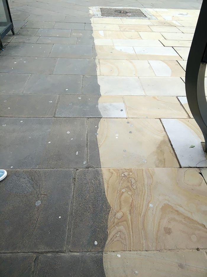 Так городской тротуар смотрится поживее все сверкает, до и после, мойка, на уборку становись, результаты уборки, уборка, чистка, чистота залог здоровья
