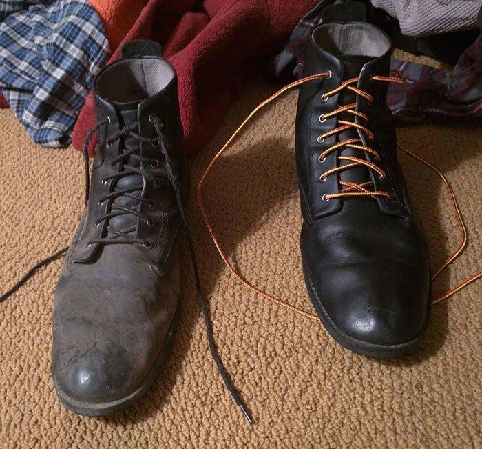 Ботинки здорово выигрывают от чистки все сверкает, до и после, мойка, на уборку становись, результаты уборки, уборка, чистка, чистота залог здоровья