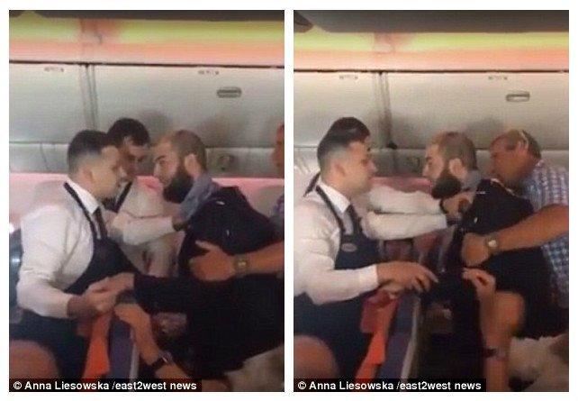 """Видео: дебошир с рейса Москва - Тель-Авив предлагает """"забить стрелку в Солнцево"""" Алкоголь зло, Израиль, авиа пассажиры, бортпроводник, дебоширы на борту, драка, пьяный бред, самолет"""