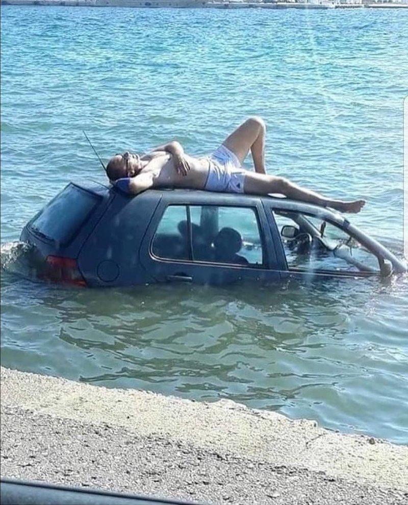 Когда паниковать уже поздно, нужно расслабиться и получать удовольствие автомобили, прикол, фейлы, юмор