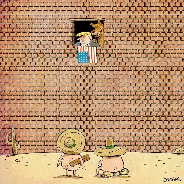 Завтра была стена бесэдер, карикатуры, мировые новости, новости, рисунки, юмор