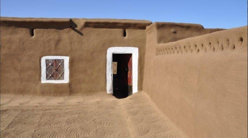 Типичный внутренний дворик агломерация, африка, северная африка, столица Судана, столицы мира, судан, хартум