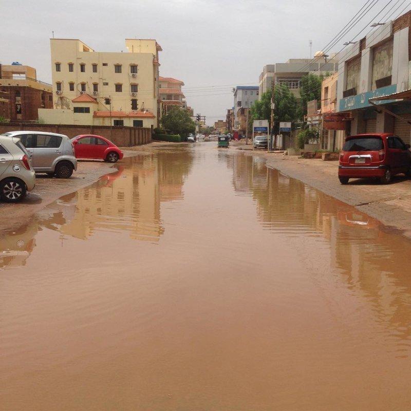 Ливнёвой канализации в городе нет агломерация, африка, северная африка, столица Судана, столицы мира, судан, хартум