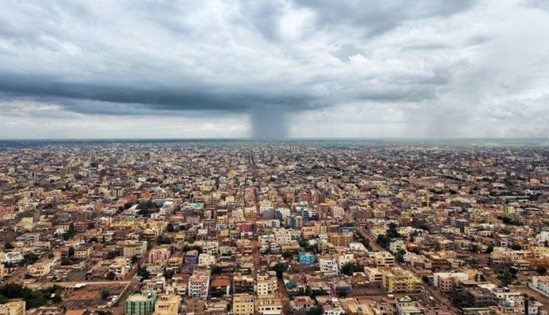 Идёт дождь (точечно) агломерация, африка, северная африка, столица Судана, столицы мира, судан, хартум