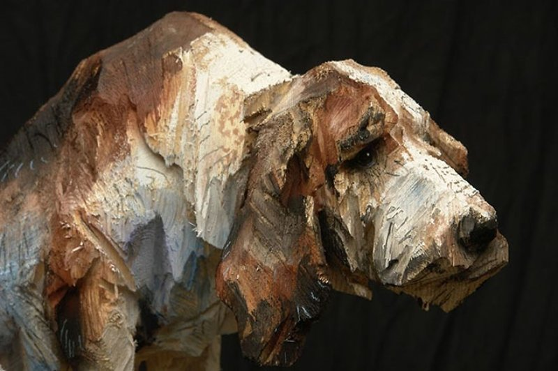 Изумительные скульптуры животных, созданные при помощи бензопилы бензопила, дерево, животные, искусство, мастер, скульптура, шедевр