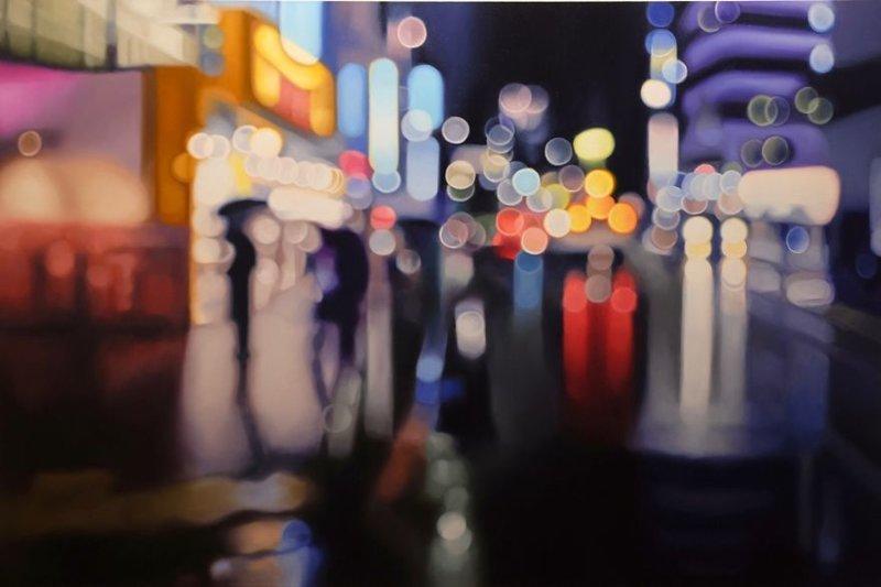 Художник показал, как видят мир люди с плохим зрением близорукость, видение, зрение, искусство, картина, мир, художник