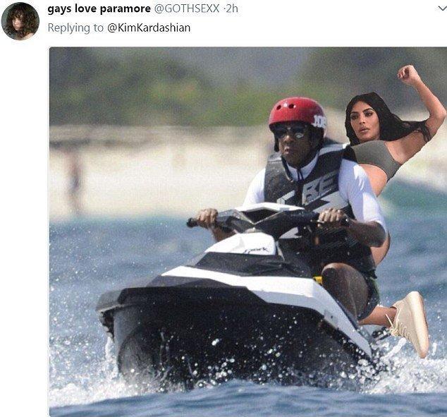 Покатушки с рэпером Jay-Z Канье Уэст, Ким  Кардашьян, мемы и фотожабы, поза, соцсети, соцсети жгут, юмор