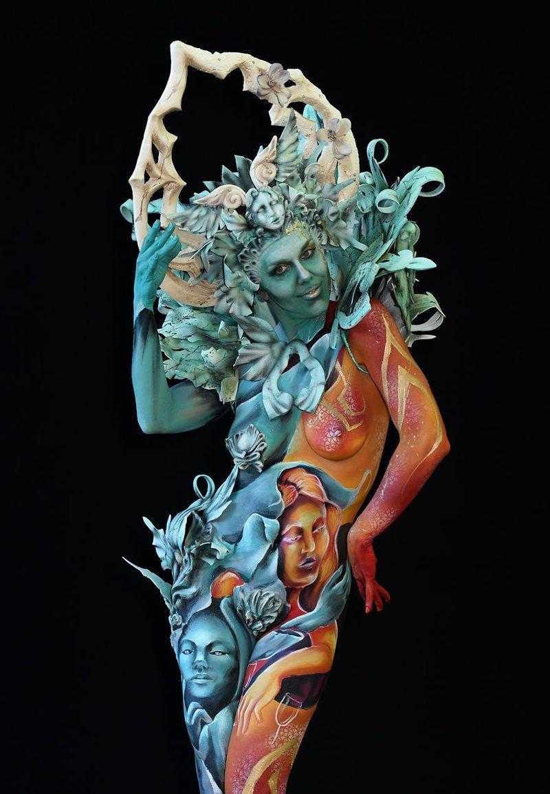 3. Художник: Gloria Bordin и Giulia Ronzoni Фестиваль, австрия, боди-арт, искусство, мир, образ, творчество, тело
