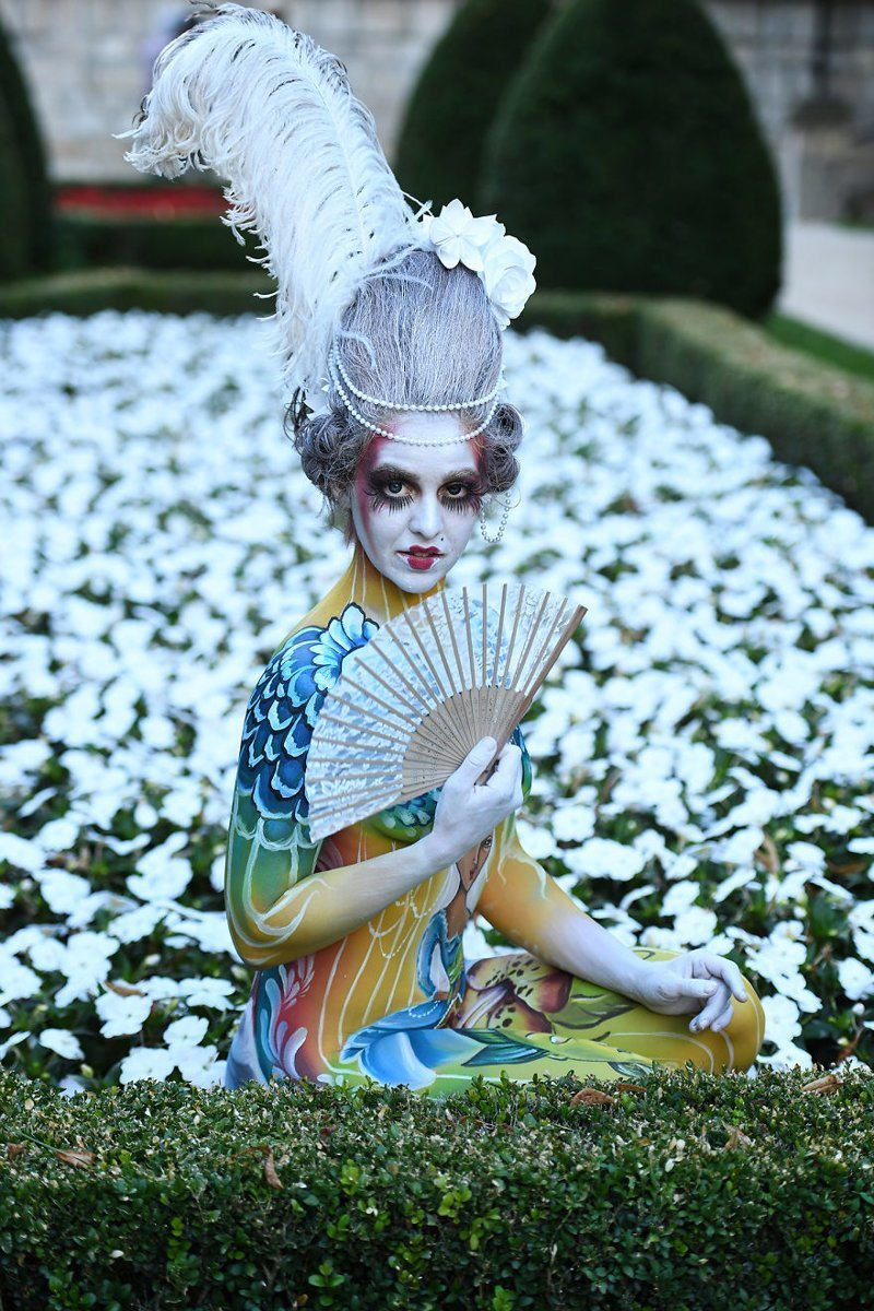 19. Художник: Silke Kirchhoff Фестиваль, австрия, боди-арт, искусство, мир, образ, творчество, тело