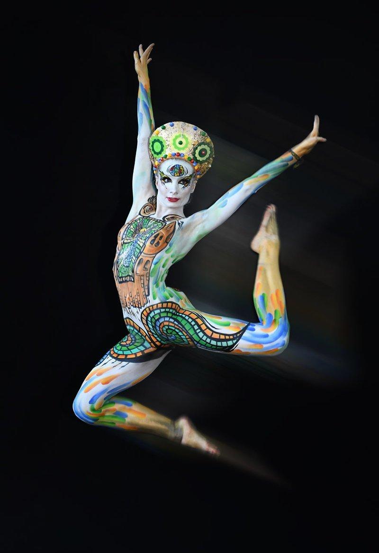 18. Художник: Lorraine Haise Фестиваль, австрия, боди-арт, искусство, мир, образ, творчество, тело