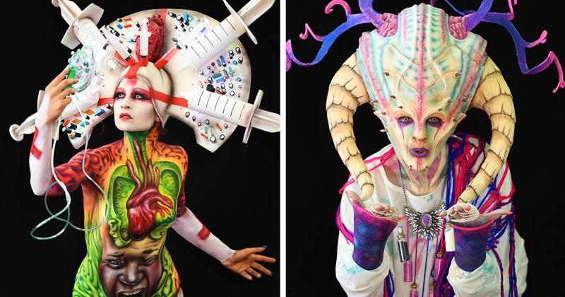 Самые запоминающиеся работы со Всемирного фестиваля боди-арта 2018 Фестиваль, австрия, боди-арт, искусство, мир, образ, творчество, тело