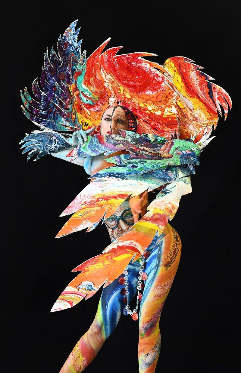 2. Художник: Ottorina Danese Фестиваль, австрия, боди-арт, искусство, мир, образ, творчество, тело