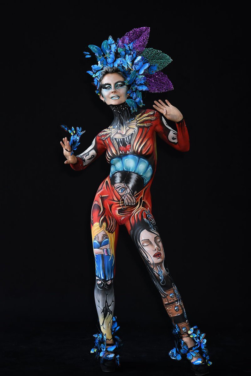 13. Художник: Anna Chapovalov Фестиваль, австрия, боди-арт, искусство, мир, образ, творчество, тело