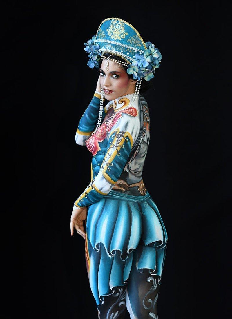 6. Художник: Tiziana La Monica Фестиваль, австрия, боди-арт, искусство, мир, образ, творчество, тело