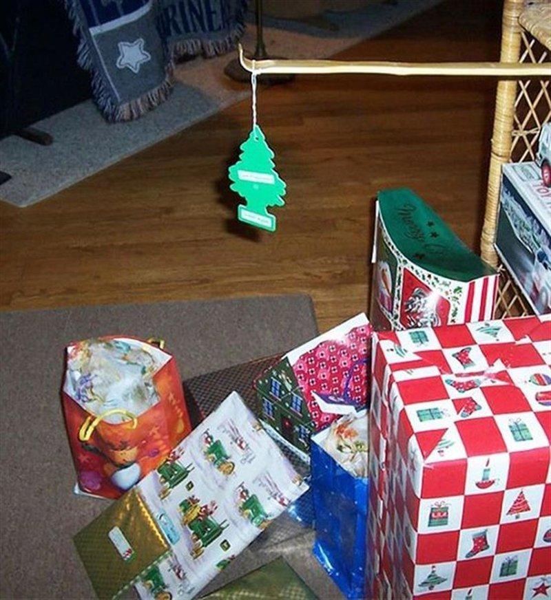 Рождественская ёлка гении, ленивые люди, лень, прикол, юмор