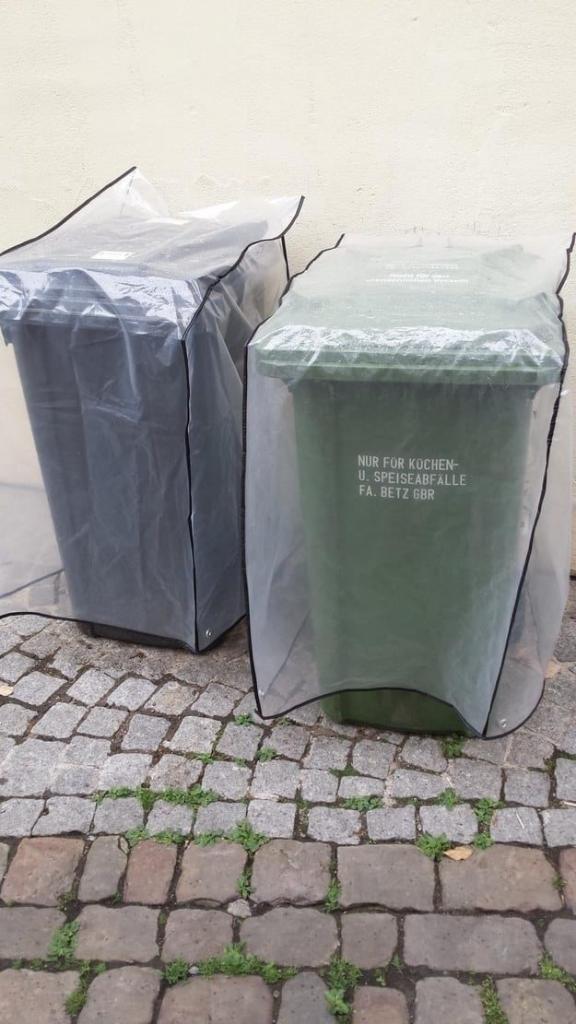 Защитные накидки для мусорных баков. Чего только не увидишь в Германии в мире, германия, идеально, люди, немцы, порядок