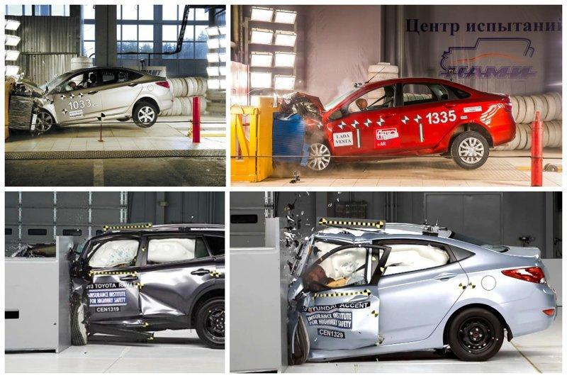 Краш-тесты самых популярных авто в России авто, видео, интересное, краш-тест, марки, модели, популярные, российский рынок