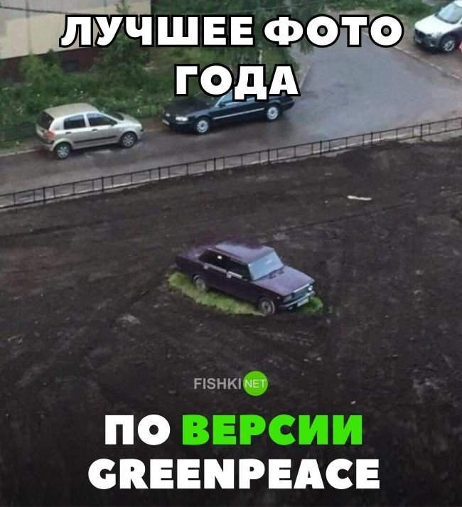 Лучшее фото года по версии Greenpeace авто, автомобили, автоприкол, автоприколы, подборка, прикол, приколы, юмор
