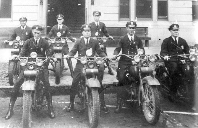 Моторизованное подразделение Тампа. США, 1920-е гг. военное, жандармы, исторические фото, милиция, полиция, факты