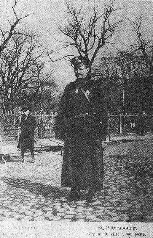 Городовой , Санкт Петербург, 1908 год. военное, жандармы, исторические фото, милиция, полиция, факты