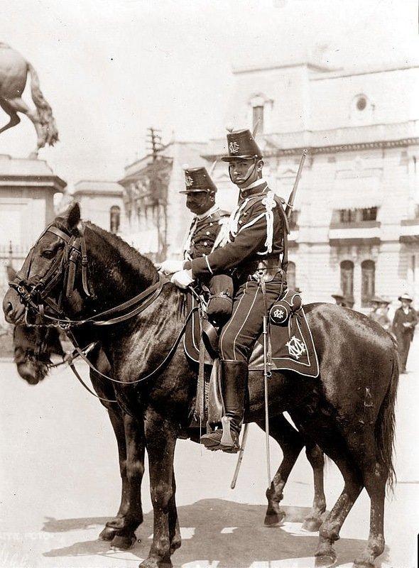 Мексиканский полицейский. Мехико,1913 год. военное, жандармы, исторические фото, милиция, полиция, факты