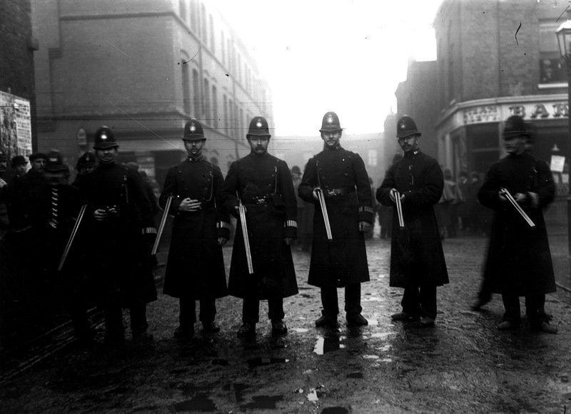 Полицейские, Англия, 1911 год военное, жандармы, исторические фото, милиция, полиция, факты