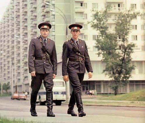 Милиция, СССР, 1970-е военное, жандармы, исторические фото, милиция, полиция, факты