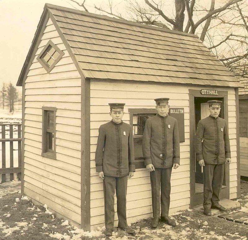 Студенты-полицейские. США, 1911 год. военное, жандармы, исторические фото, милиция, полиция, факты