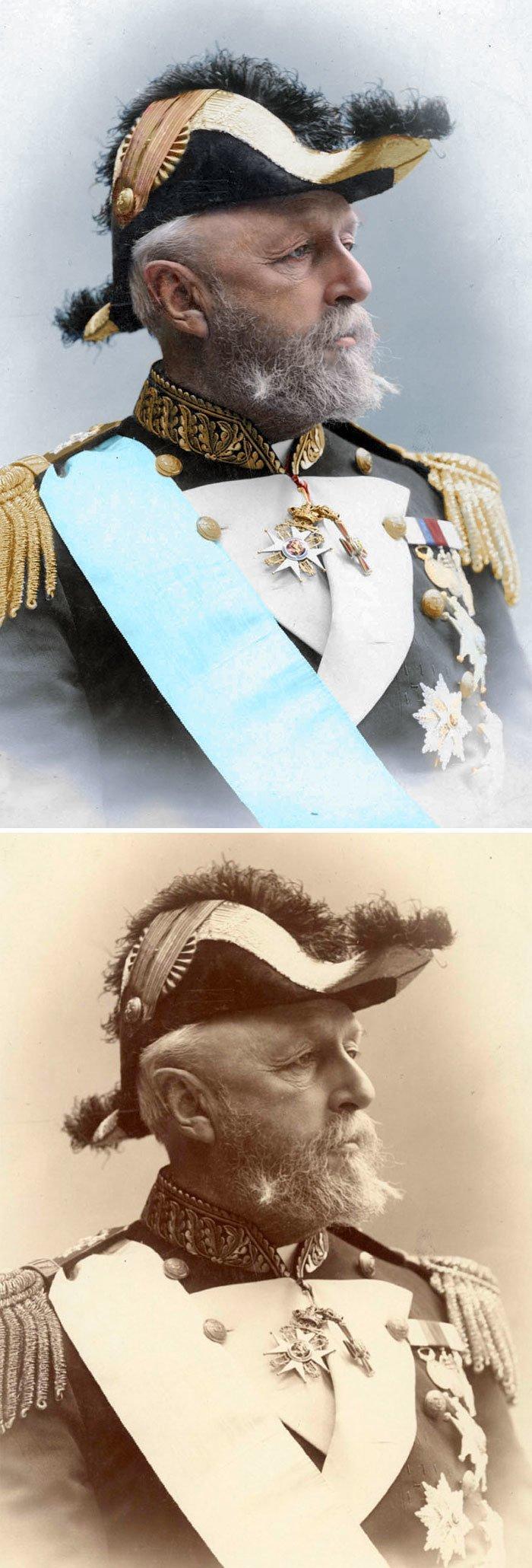Король Швеции Оскар II история, портрет, прошлое, событие, фотография, фотомир, цвет