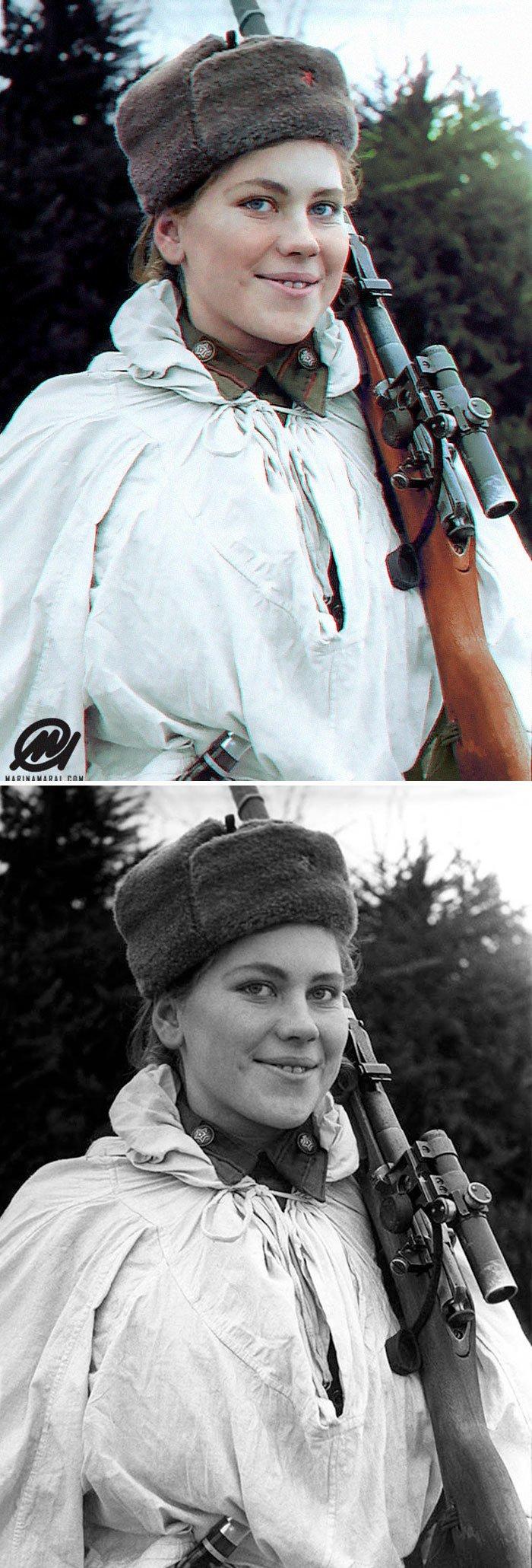 Роза Шанина, 19-летняя девушка-снайпер Второй мировой войны с 59 подтвержденными убийствами история, портрет, прошлое, событие, фотография, фотомир, цвет