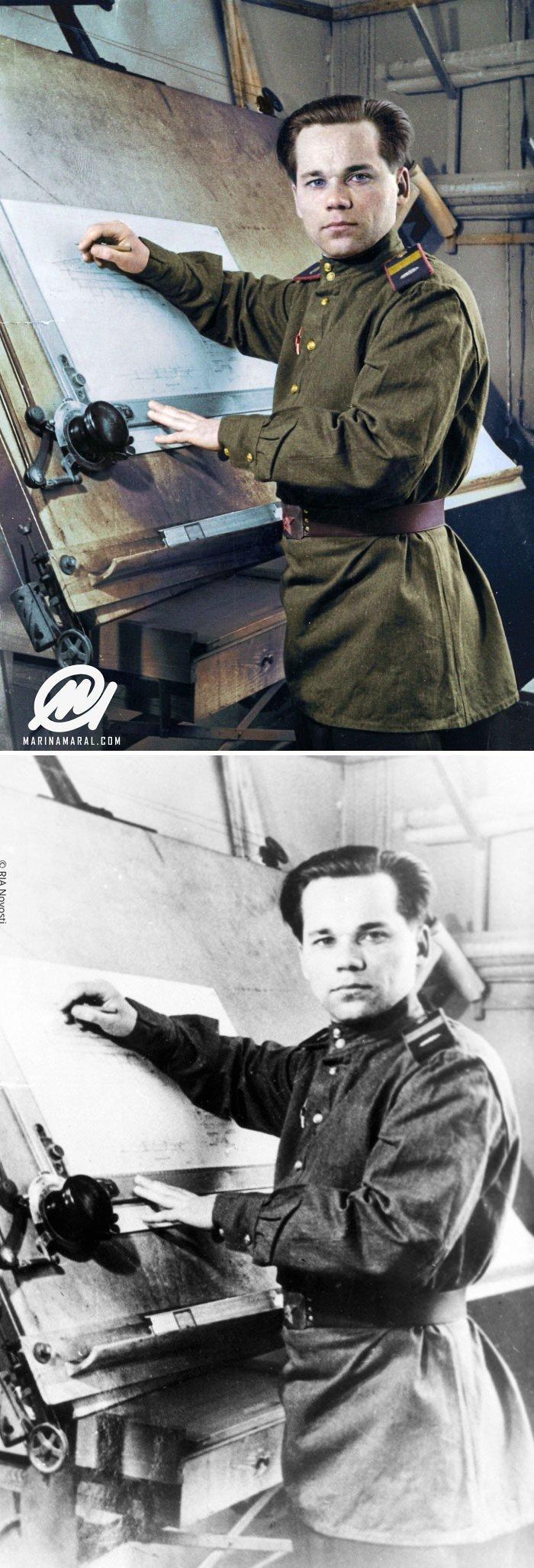 Михаил Калашников история, портрет, прошлое, событие, фотография, фотомир, цвет