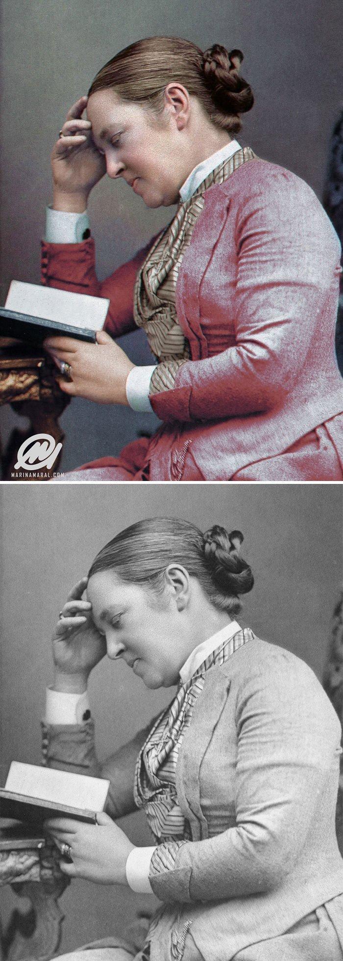 Элизабет Гаррет Андерсон, 1889 год история, портрет, прошлое, событие, фотография, фотомир, цвет