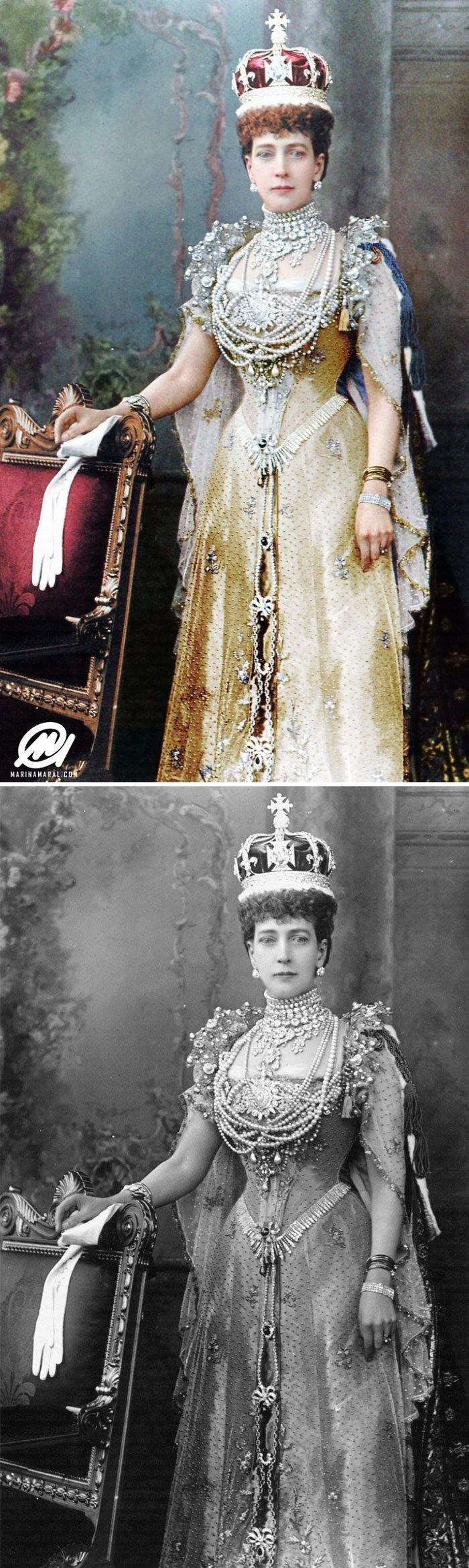 Королева Александра история, портрет, прошлое, событие, фотография, фотомир, цвет