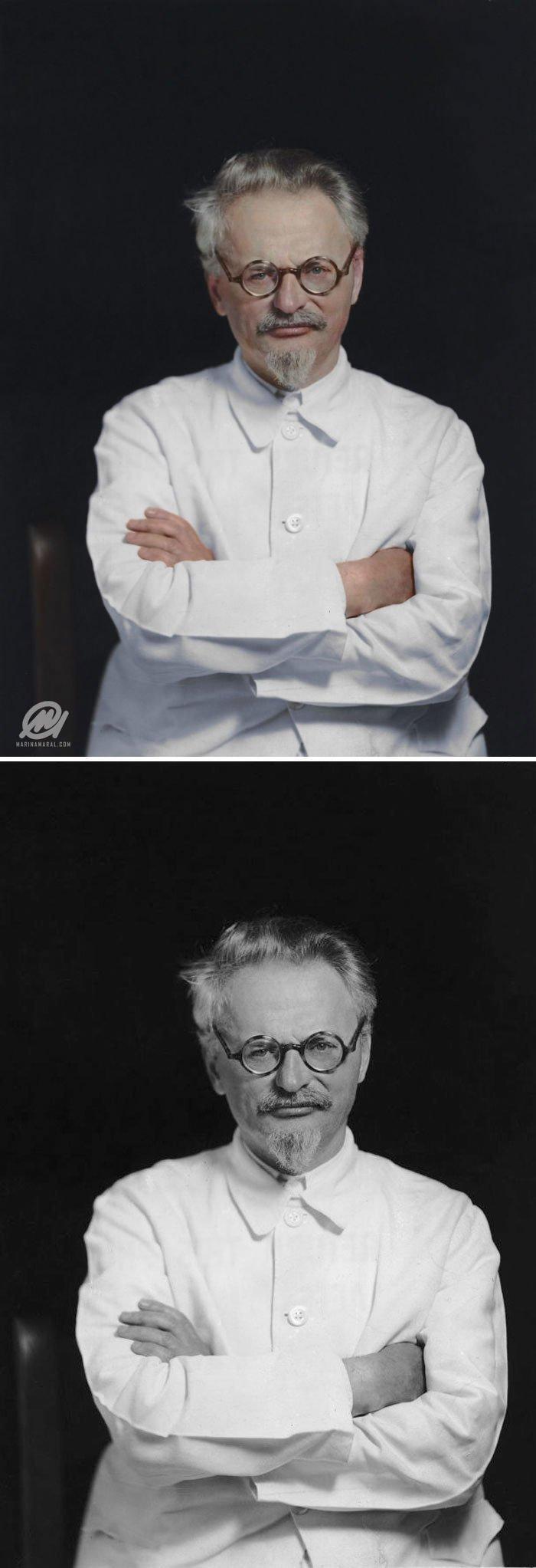 Лев Троцкий история, портрет, прошлое, событие, фотография, фотомир, цвет